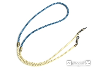 TWO TONE SILKY GLASS CODE / BLUE & BEIGE (SG1056G)