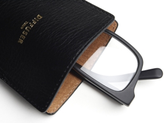 DIFFUSER (ディフューザー)|アイウエアケース INNER POCKET EYEWEAR CASE / Black & Light Brown (SG1061A)