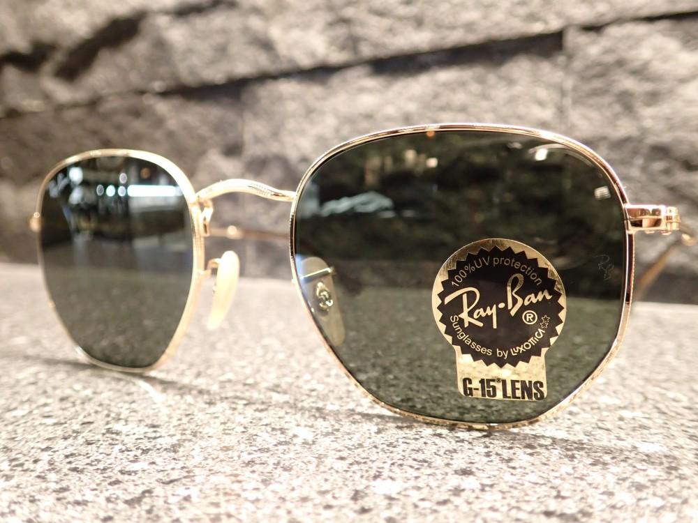 Ray Ban(レイバン)「ORB3548N」6角形シェイプのサングラスのご紹介です。