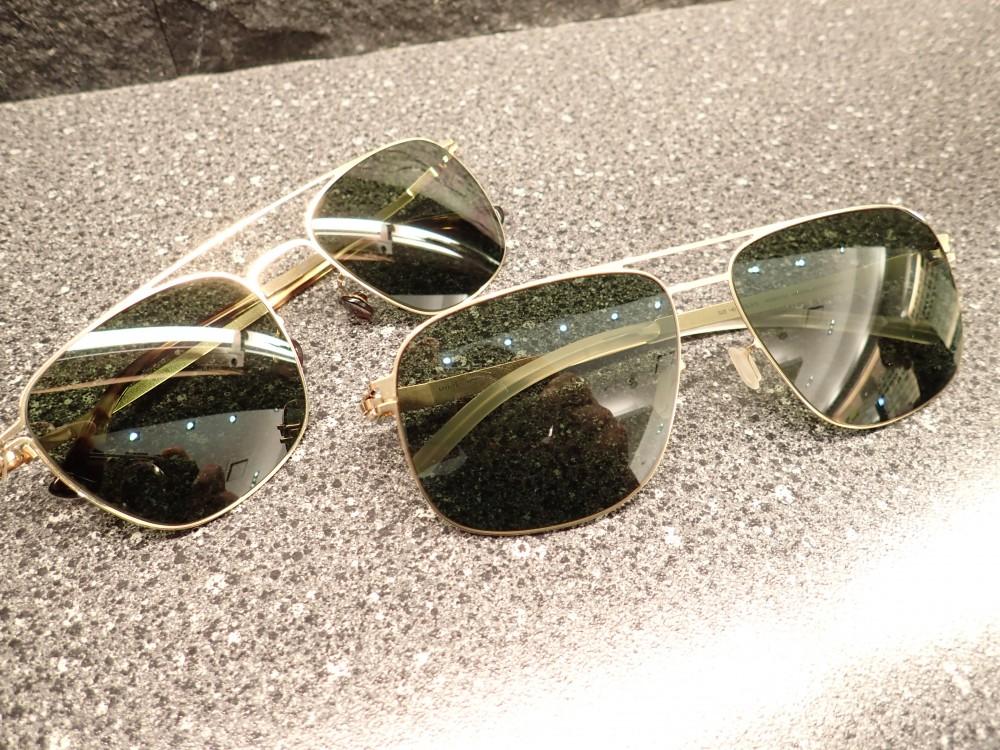 旅行に持っていくサングラスにいかがでしょう?MYKITA「TORGE」&「WES」