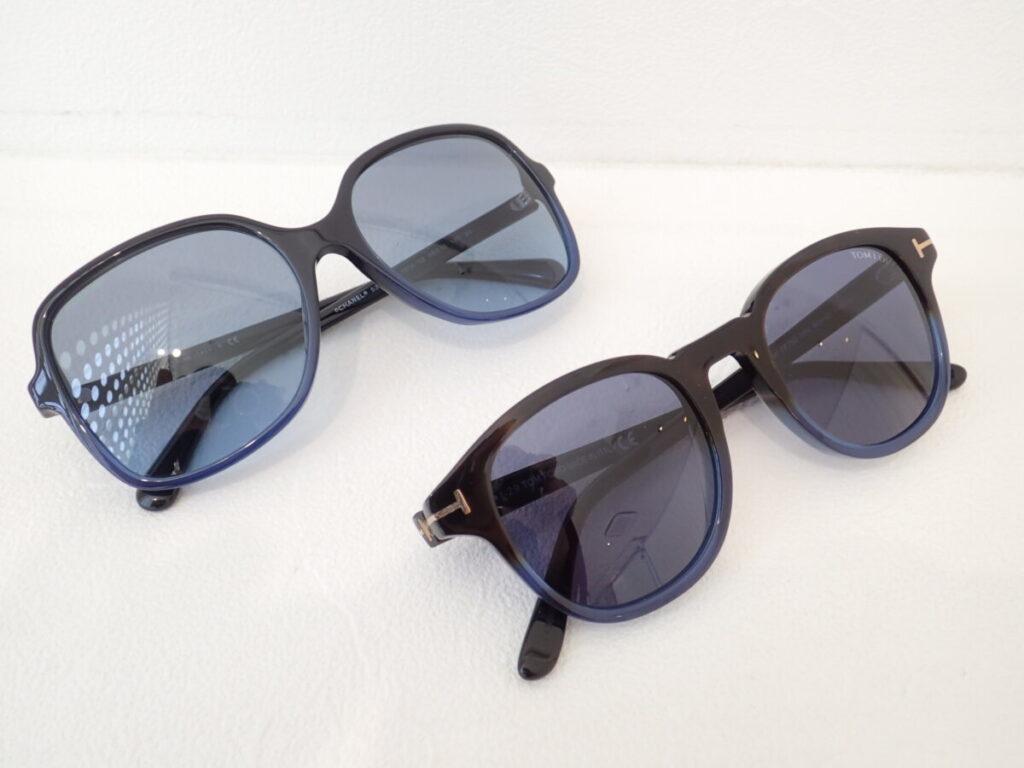 夏にピッタリ大人のブルーサングラス!|トムフォード「TF752|Jameson」・「シャネル|5349-A」