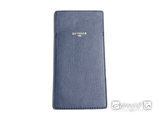 INNER POCKET EYEWEAR CASE / Blue Grey & Light Brown (SG1061D)