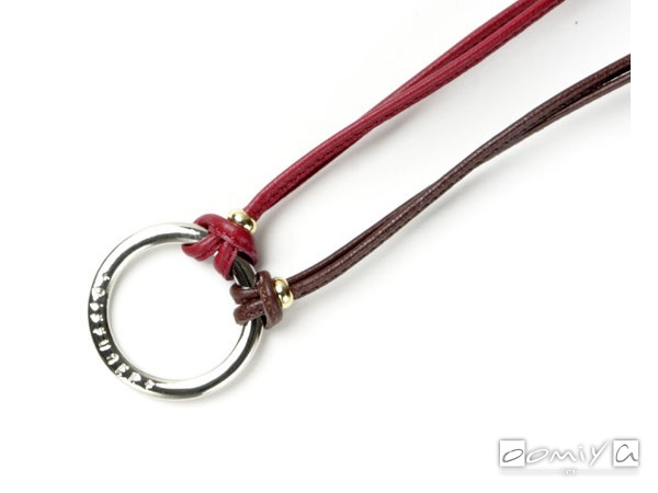 TWO TONE STICH LEATHER GLASS HOLDER / Dark Brown&Dark Red (SG1039B)