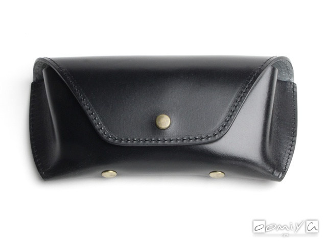BRIDLE LEATHER EYEWEAR CASE / Black & Grey(AG1062A)