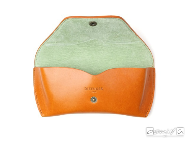 OILE LEATHER EYEWEAR CASE / Orange & Mint Green (SG1076E)