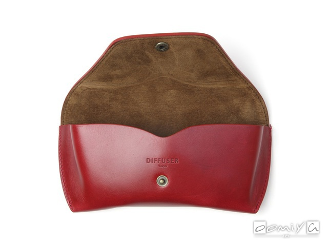 OILE LEATHER EYEWEAR CASE / Red Brown & Brown (SG1076C)
