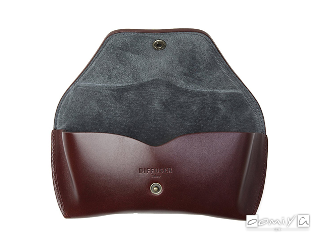 OILE LEATHER EYEWEAR CASE / Dark Brown & Dark Grey (SG1076B)