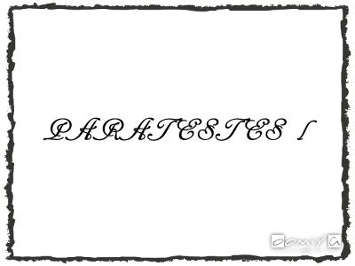 PARATESTES Ⅰ